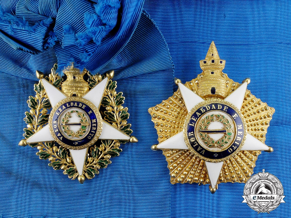 eMedals-Portugal, Kingdom. A Superb Order of the Tower and Sword in Gold, 1st Class Grand Cross, c.1840