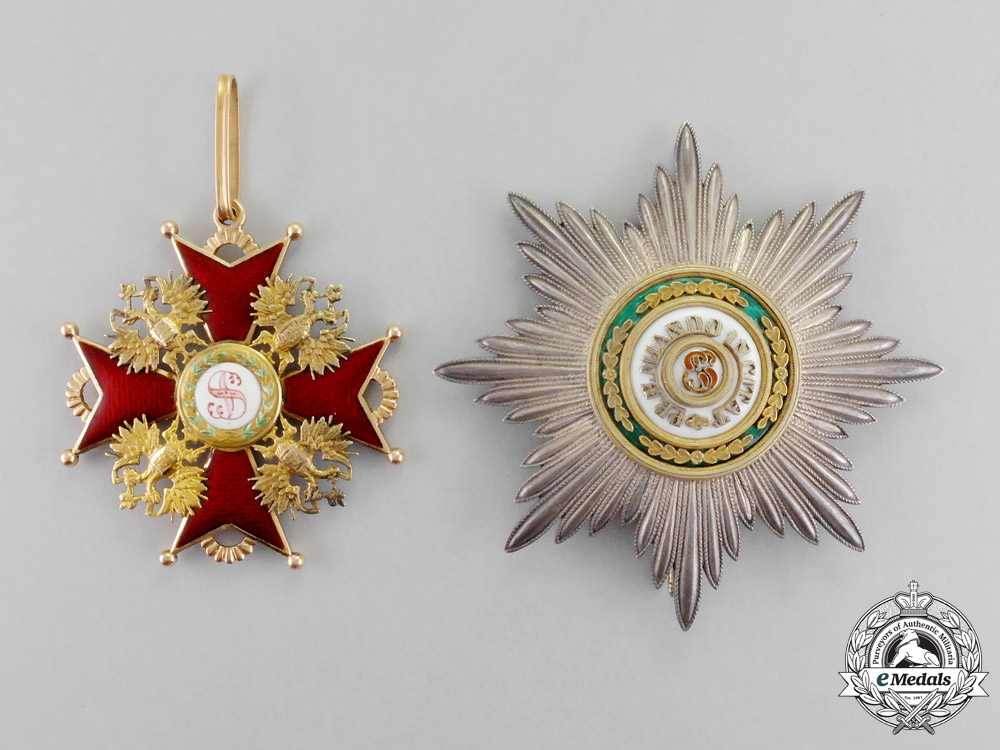 eMedals-Russia, Imperial. An Order of St. Stanislaus, 1st Class Grand Cross Set, c.1907