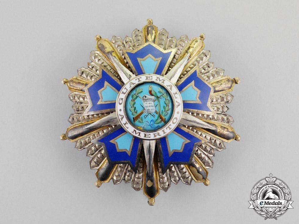 eMedals-Guatemala. An Order of Quetzal, Grand Cross Star, Type II, c.1941