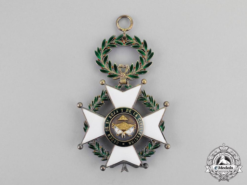 eMedals-Honduras. An Order of Santa Rosa and of Civilization, Grand Cross Badge, c.1900
