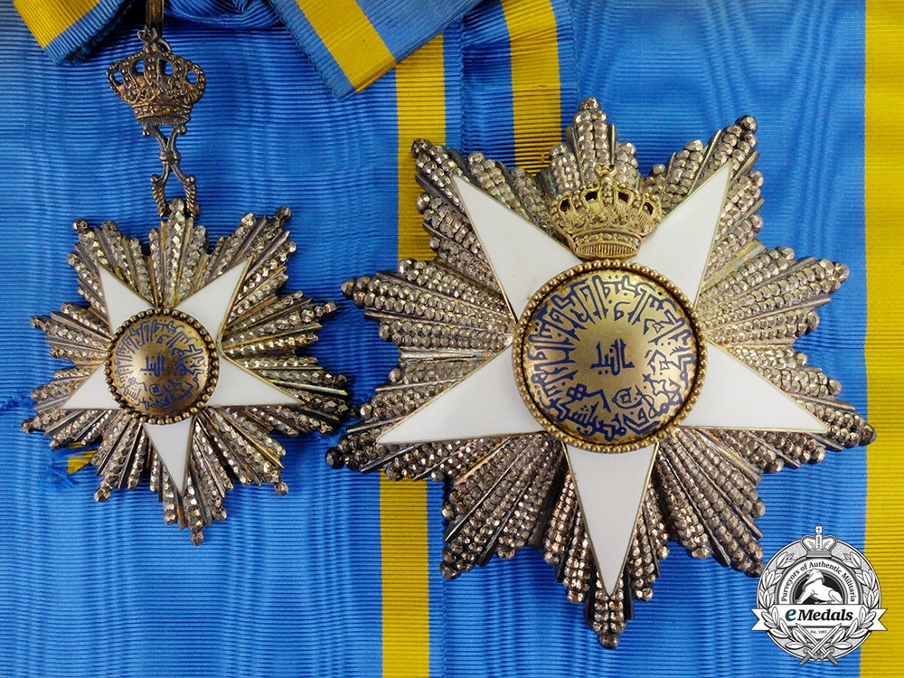 eMedals-Egypt, Kingdom. An Order of Nishan-al-Nil, Grand Cordon, by Lattes of Cairo, c.1940