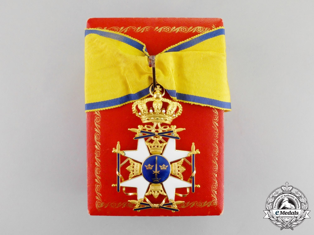 eMedals-  Sweden. A Royal Order of the Sword in Gold, Commander with Ball Finials, c.1930