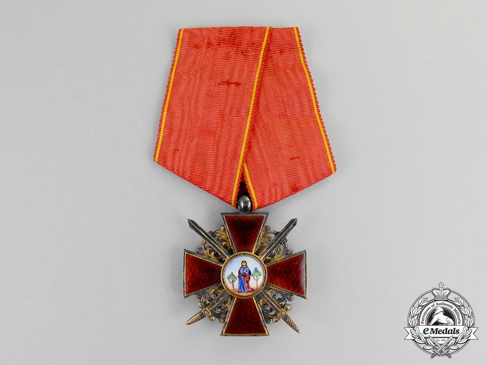 eMedals-Russia, Empire. An Order of St.Anne, Knight, Military Division, c.1920