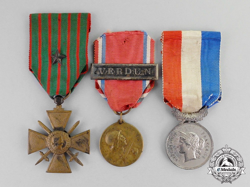 France republic three awards decorations 1918 other for Awards decoration