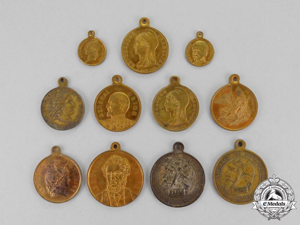 eMedals-France, Third Republic. Eleven Commemorative Medals, c.1870