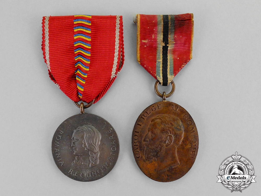eMedals-Romania, Kingdom. Two Awards & Medals