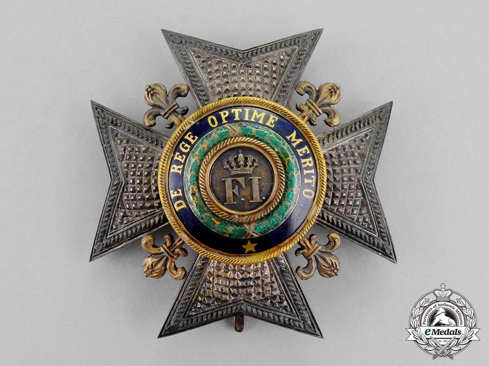 eMedals-Italian States, Sicily Kingdom. A Royal Order of Francis I, Grand Cross Star, c.1920
