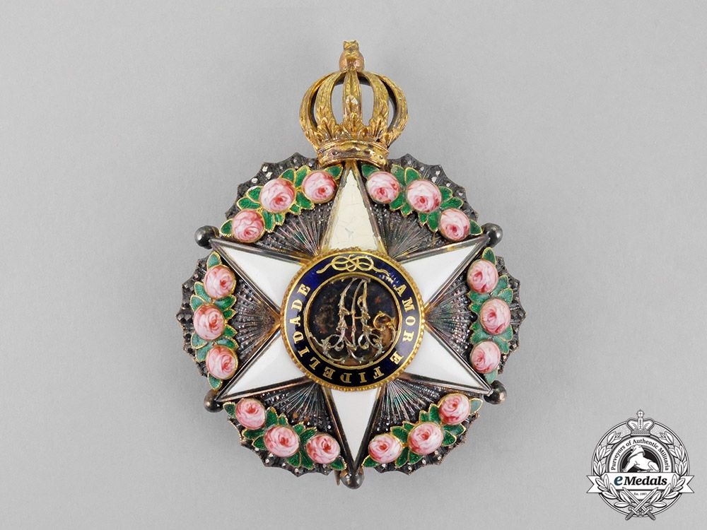 eMedals-Brazil, Independent Empire. An Order of the Rose, Grand Dignitary Star, c.1878