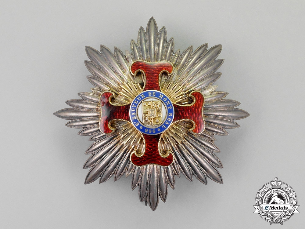 eMedals-France, Third Republic. An Order of the Holy Savior of Mount Real, Grand Cross, c.1880