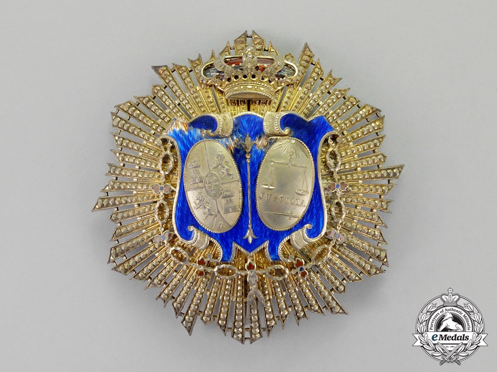 eMedals-Spain, Kingdom. A Star of Honour for Military Judges, Gold Grade c.1930