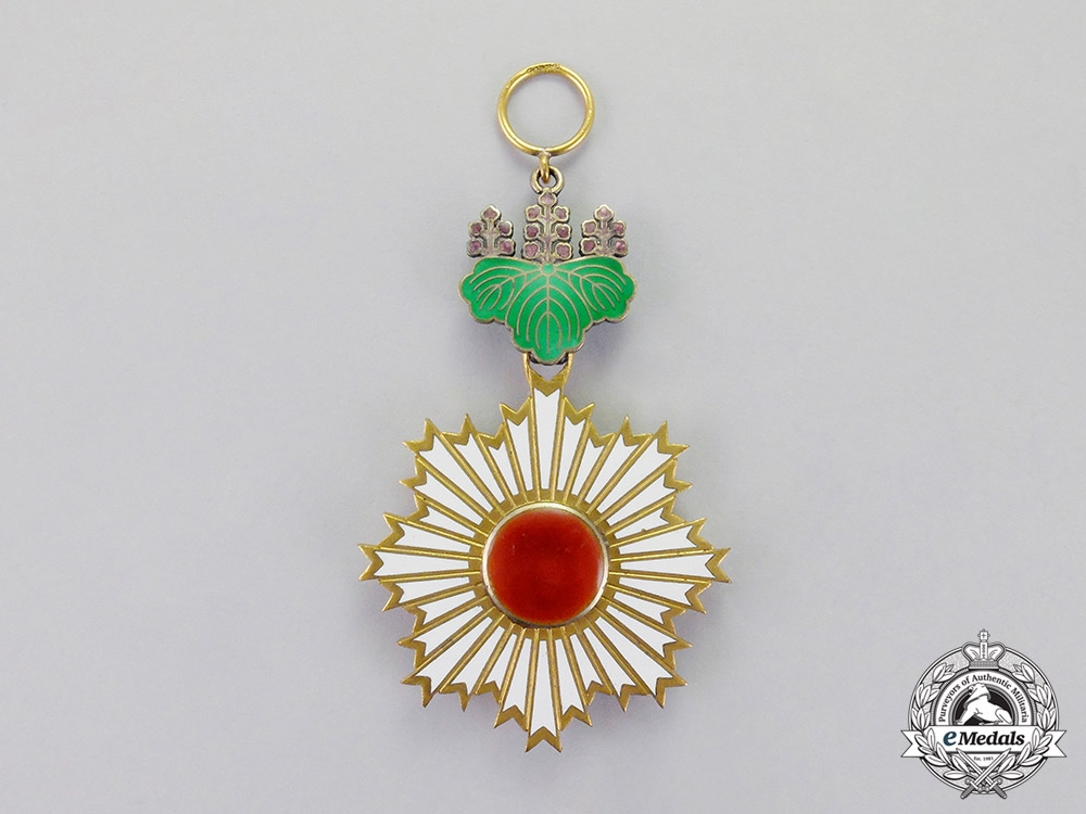 eMedals-Japan, Imperial. An Order of the Rising Sun, 4th Class by Godet, c.1938