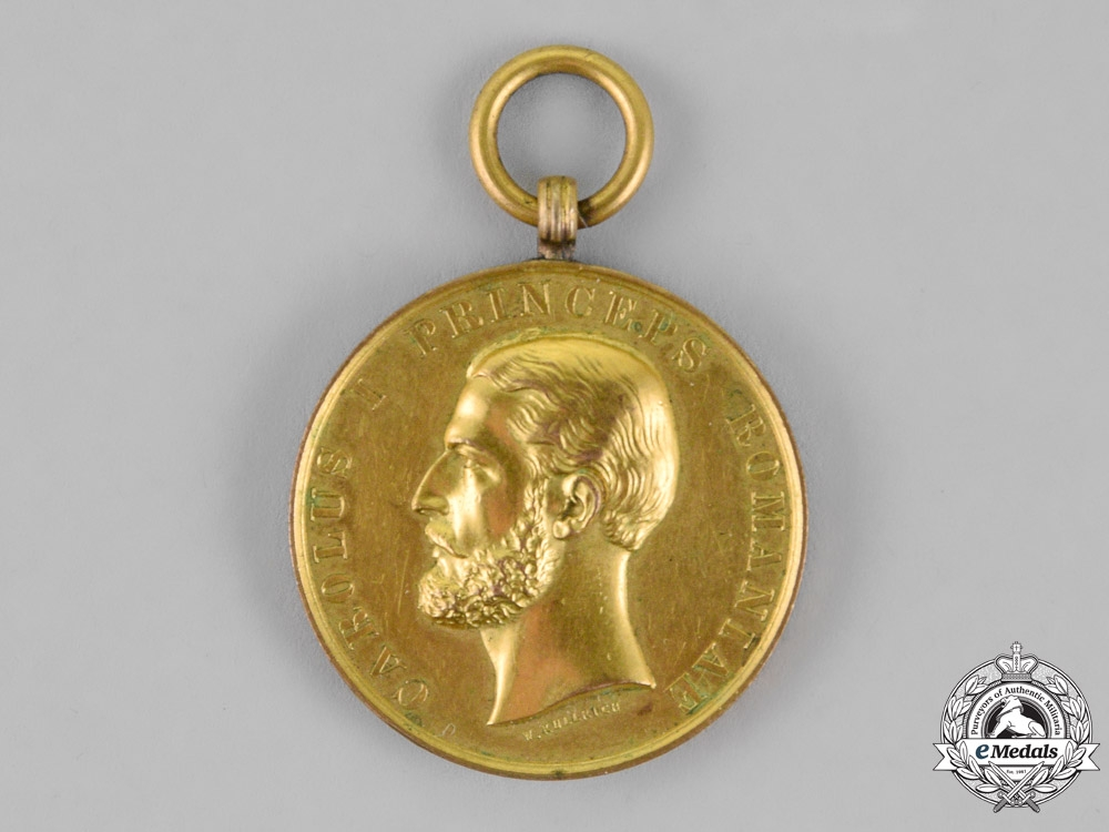 eMedals-Romania, Kingdom. A Bene Merenti Medal, 1st Class, Gold Grade, c.1879