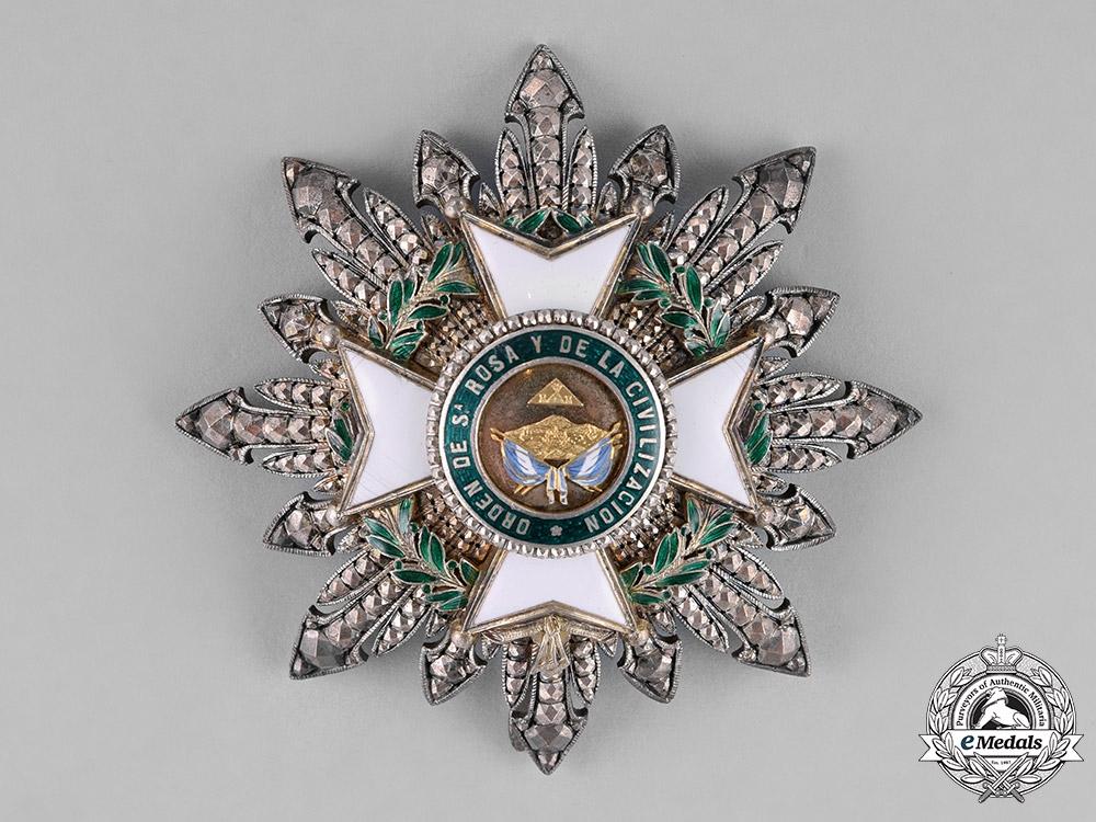 eMedals-Honduras, Republic. An Order of Santa Rosa and of Civilization, Grand Cross Star, by Lemaitre, c.1880