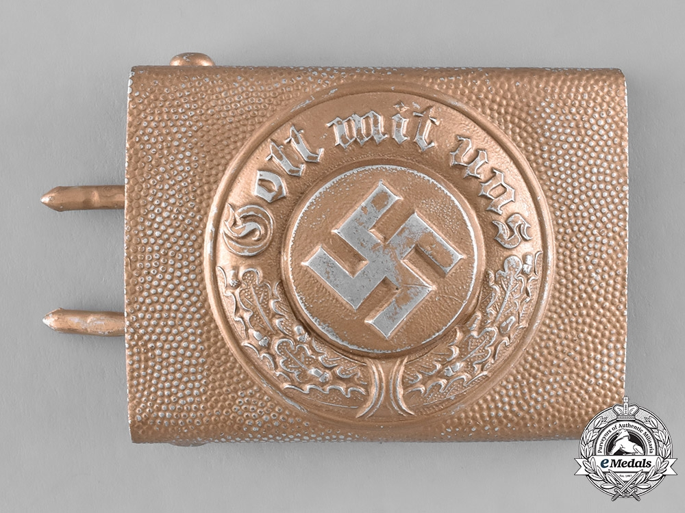 eMedals-Germany. A Protection/Communal Police EM/NCO's Belt Buckle