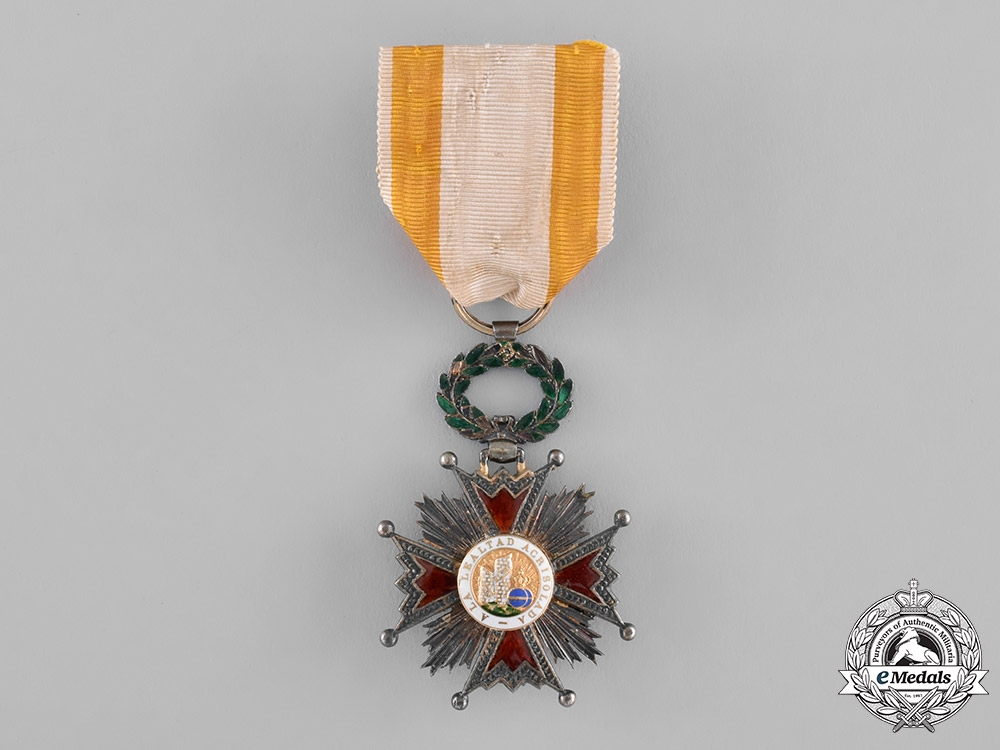 eMedals-Spain, Kingdom. An Order of Isabella the Catholic, Knight, c.1835