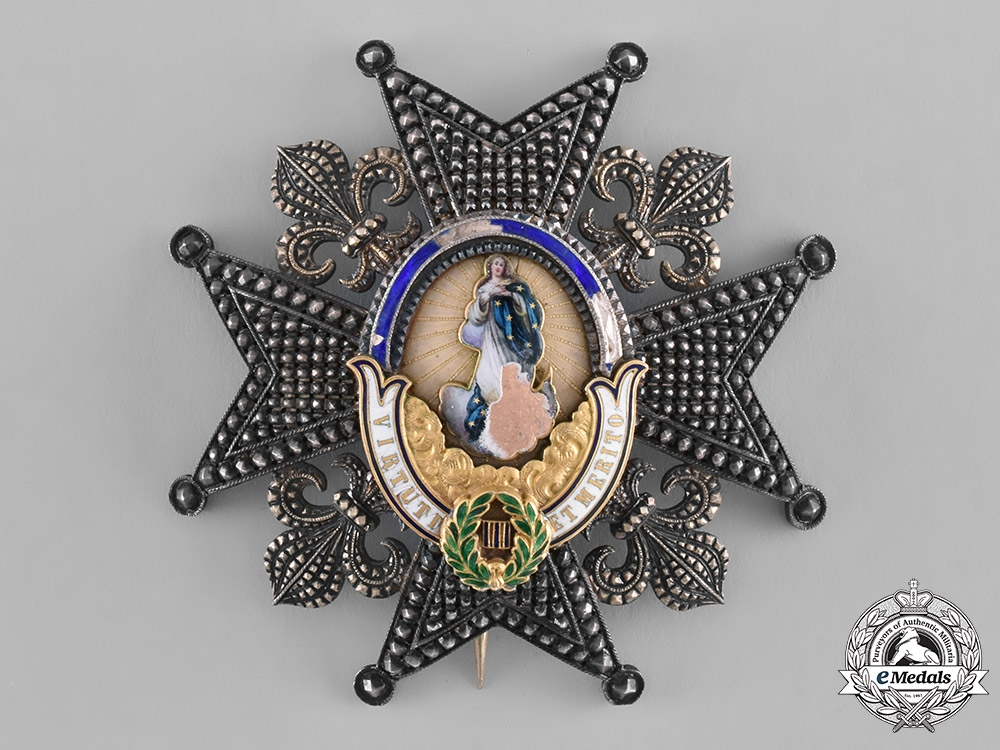 eMedals-Spain, Kingdom. A Royal and Distinguished Order of Charles III, Grand Cross Star, c.1870