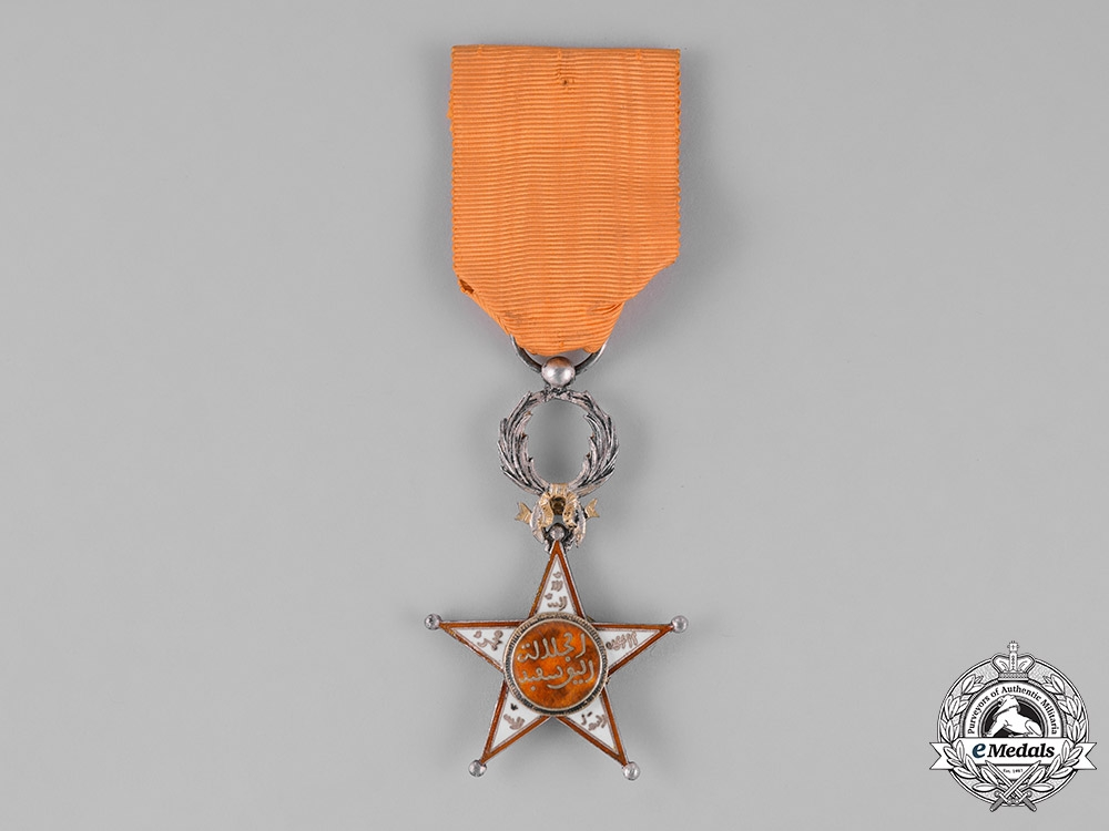 eMedals-Morocco. An Order of Ouissam Alaouite, V Class Knight, c.1920