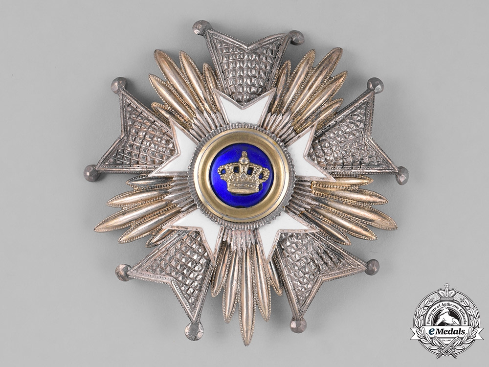 eMedals-Belgium, Kingdom. An Order of the Crown, Grand Officer's Star, by Fernand Heremans, c.1950