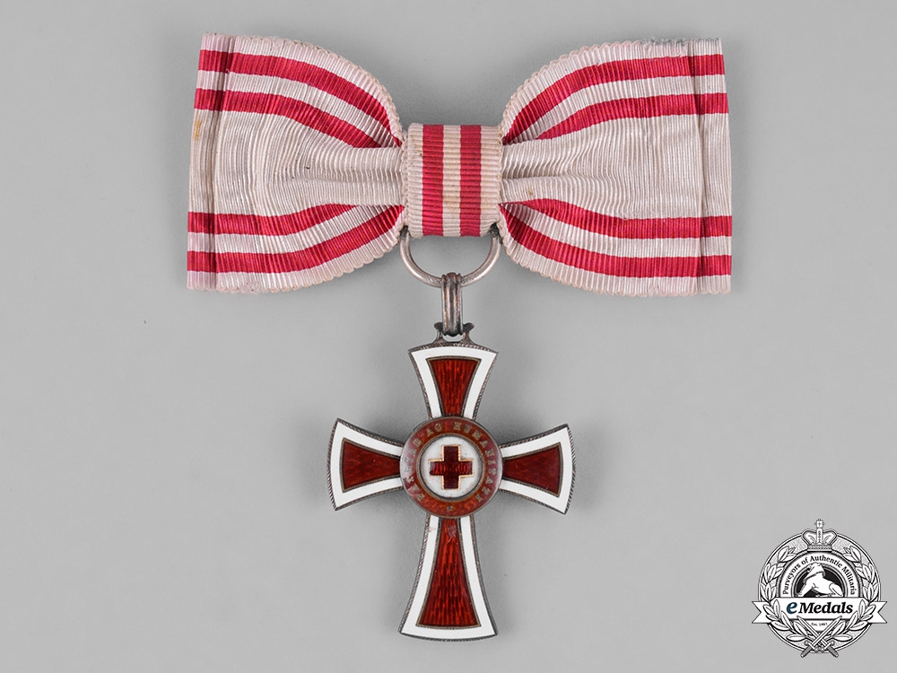 eMedals-Austria, Empire. An Honour Decoration of the Red Cross, Second Class, on Ladies Ribbon