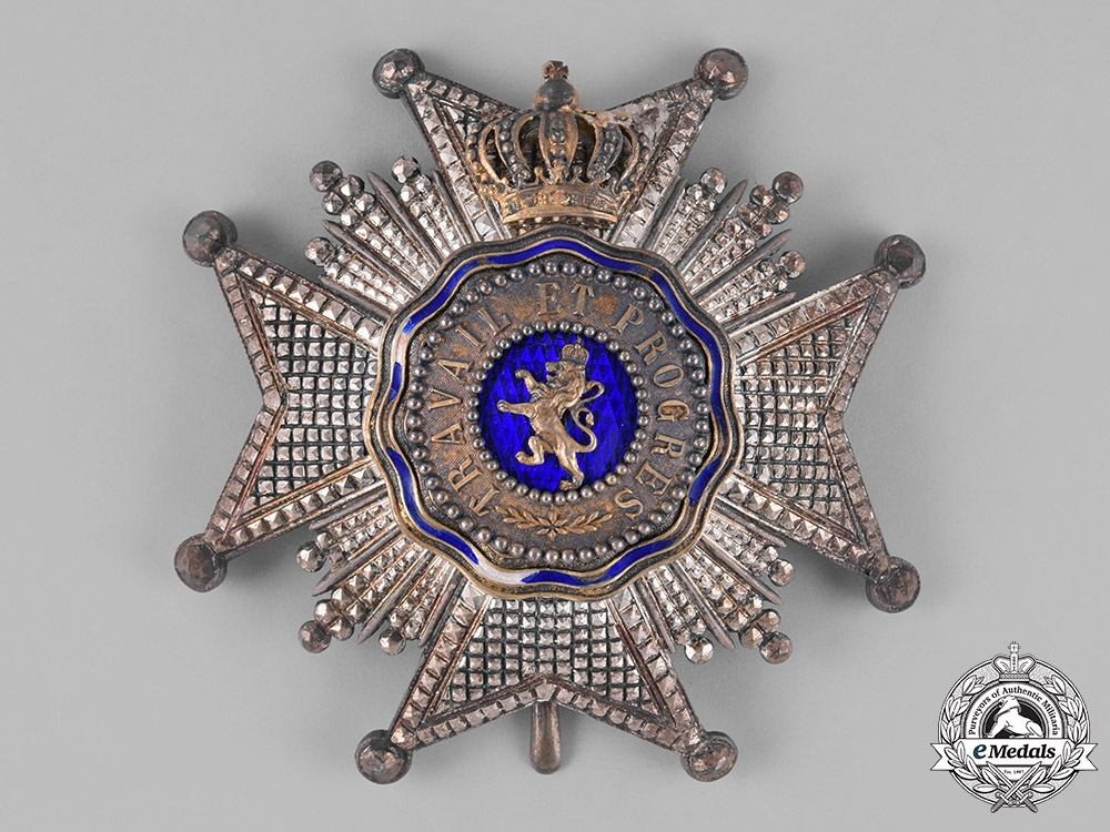 eMedals-Belgium, Colonial. A Royal Order of the Lion, Grand Officer, c.1900