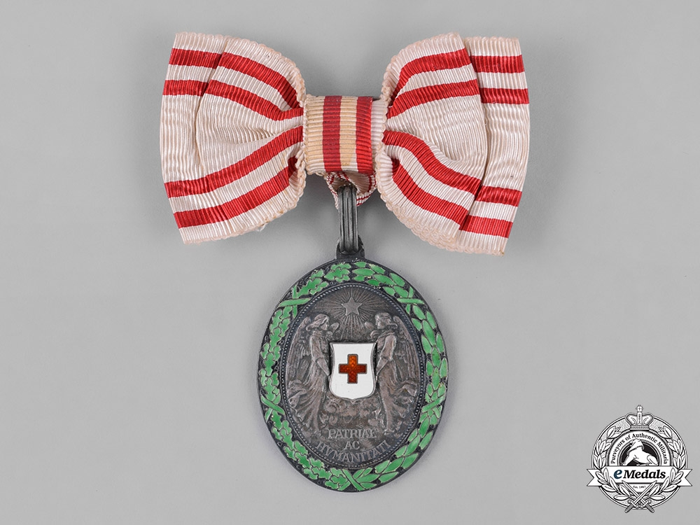 eMedals-Austria, Empire. An Honour Decoration of the Red Cross, Silver Medal with W.D