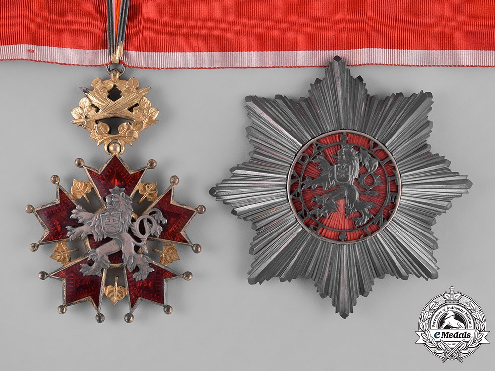 eMedals-Czechoslovakia, First Republic. An Order of the White Lion, 2nd Class Grand Officer, by Karnet Kysely