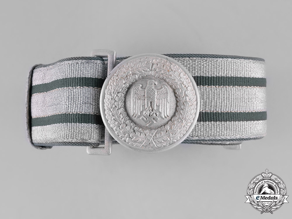 eMedals-Germany, Heer. A Wehrmacht Heer (Army) Officer's Brocade Dress Belt & Buckle