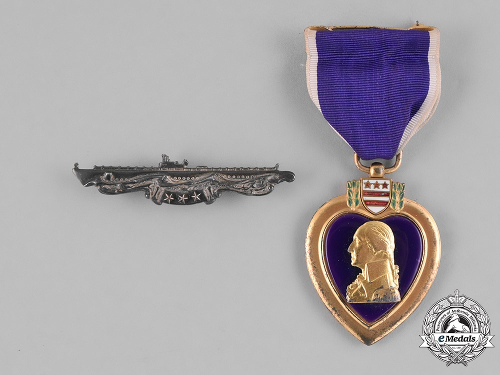 eMedals-United States. A Purple Heart to Submariner, Fireman I Class Schmidt, USNR, USS Herring KIA