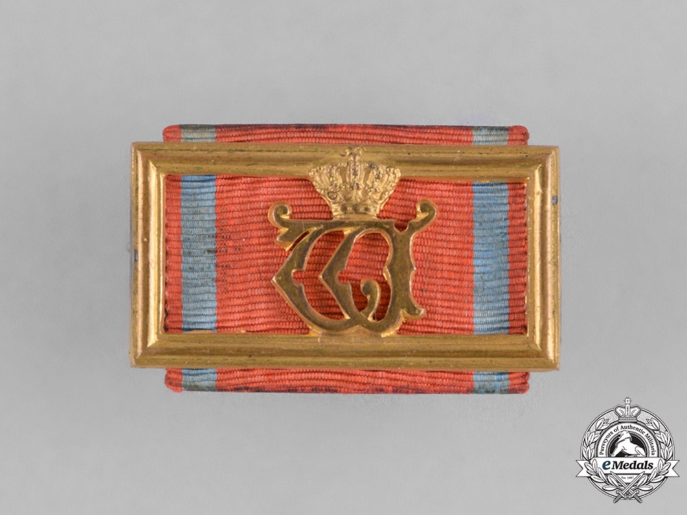 eMedals-Württemberg, Kingdom. A Long Service Medal Ribbon Bar.