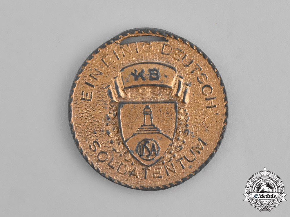 """eMedals-Germany. An 1939 American Kyffhäuser League """"Day of German Soldiers"""" Medal"""