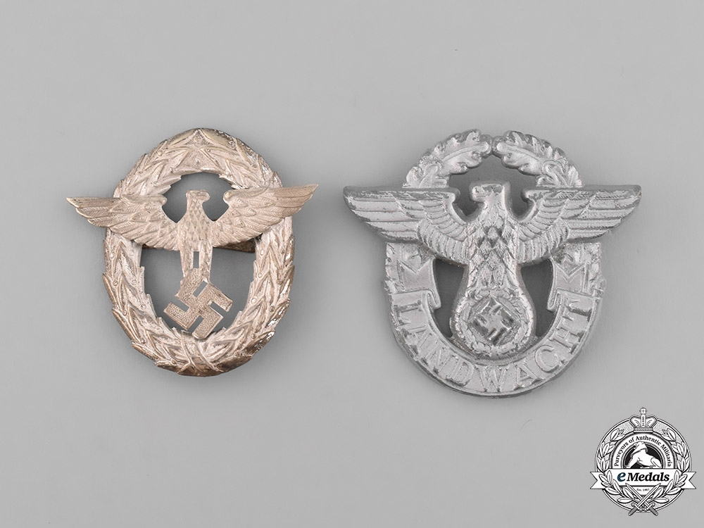 eMedals-Germany. A Grouping of Two Police Eagles
