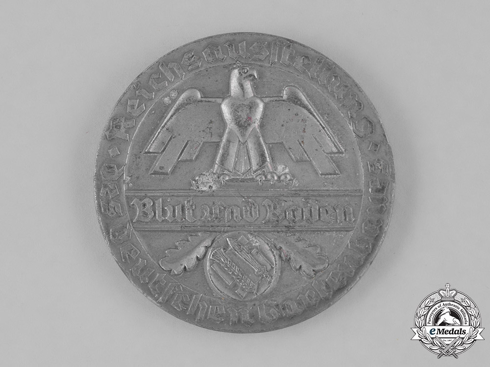 eMedals-Germany. A Blood and Soil Reichs Exhibition of Gardening 1st Prize Medal