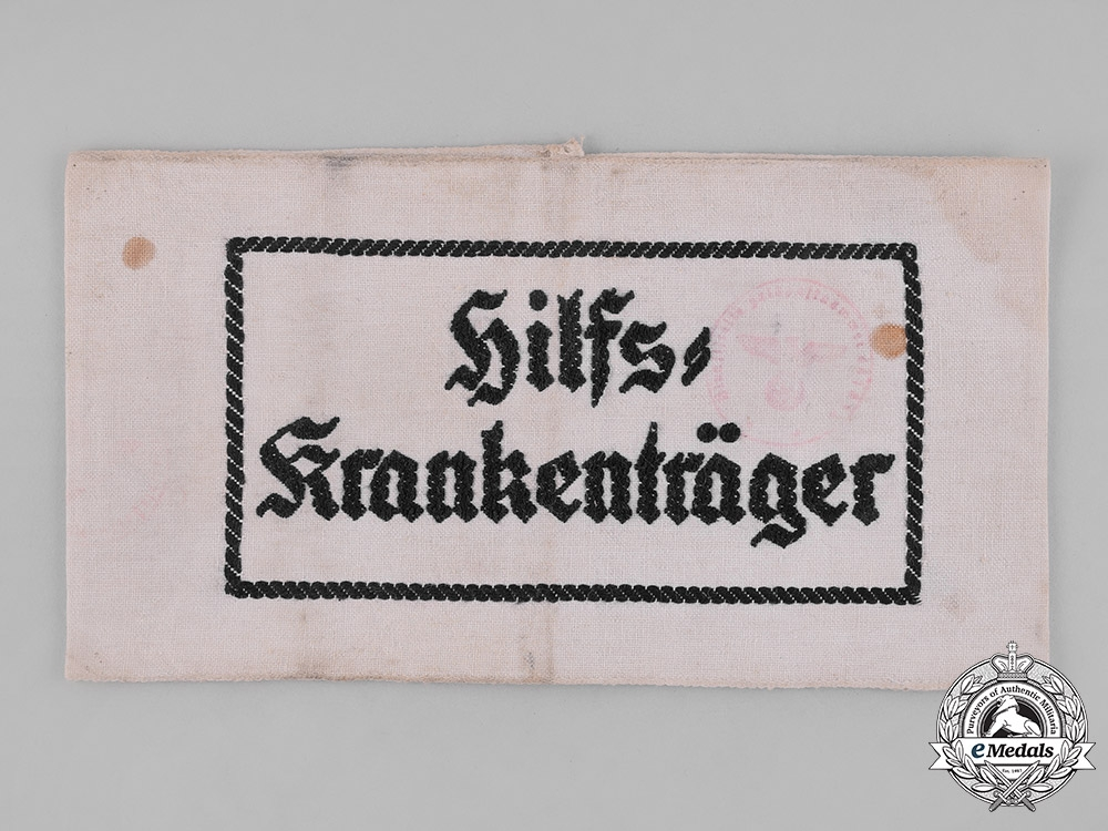 eMedals-Germany, Wehrmacht. An Auxiliary Stretcher Bearer's Armband