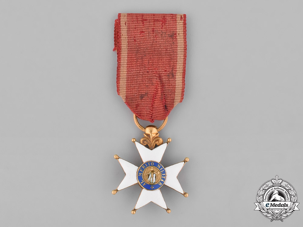 eMedals-Spain, Kingdom. A Royal &  Military Order of Saint Ferdinand in Gold, Officer's Cross, c.1830