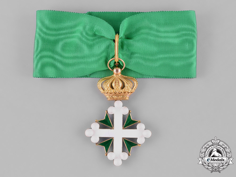 eMedals-Italy, Kingdom. An Order of St. Maurice and St. Lazarus in Gold, I Class Commander