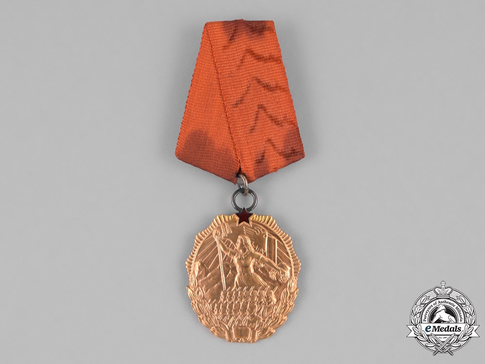 eMedals-Albania, People's Republic. An Order of the Flag in Gold