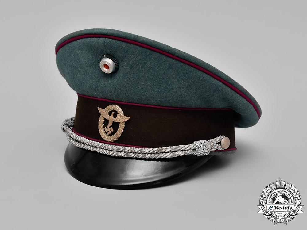 eMedals-Germany, Schutzpolizei. A Schutzpolizei der Gemeinden (Municipal Protection Police) Officer's Visor Cap