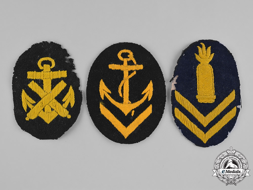 eMedals-Germany, Kriegsmarine. A Group of Second War Period Kriegsmarine Petty Officer Career Patches