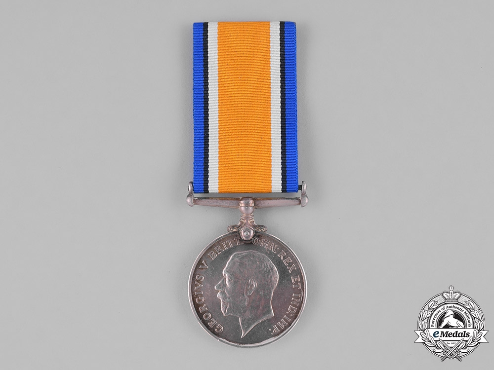 eMedals-Canada. A British War Medal,  CMMG, Wounded during the Battle of Mont Sorrel, June 1916