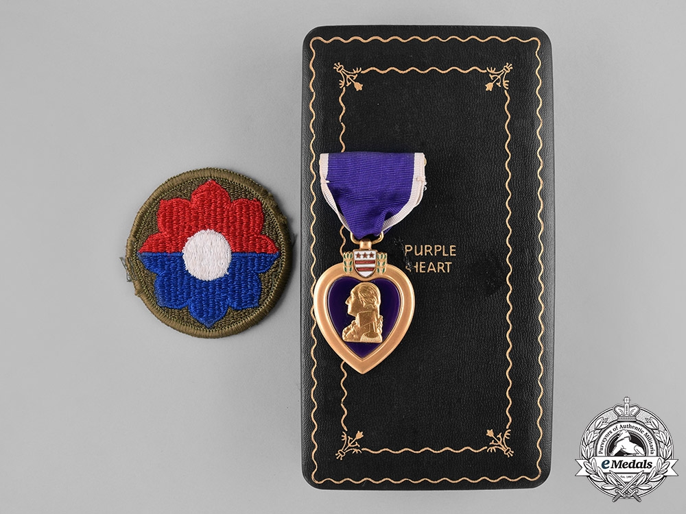 eMedals-United States. A Purple Heart, 47th Infantry, KIA During Panzer Lehr Counter Attack, Normandy, July 11, 1944