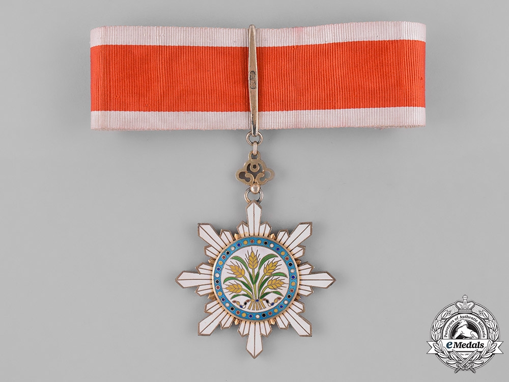 eMedals-China, Republic. An Order of the Golden Grain, III Class Commander, c.1920