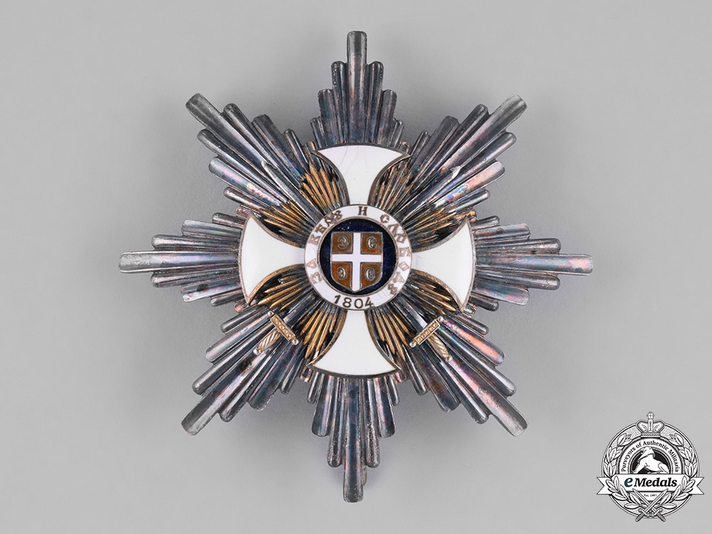 eMedals- Serbia, Kingdom. An Order of Karageorge, 1. Class Star with Swords, c.1916, by Bertrand, Paris