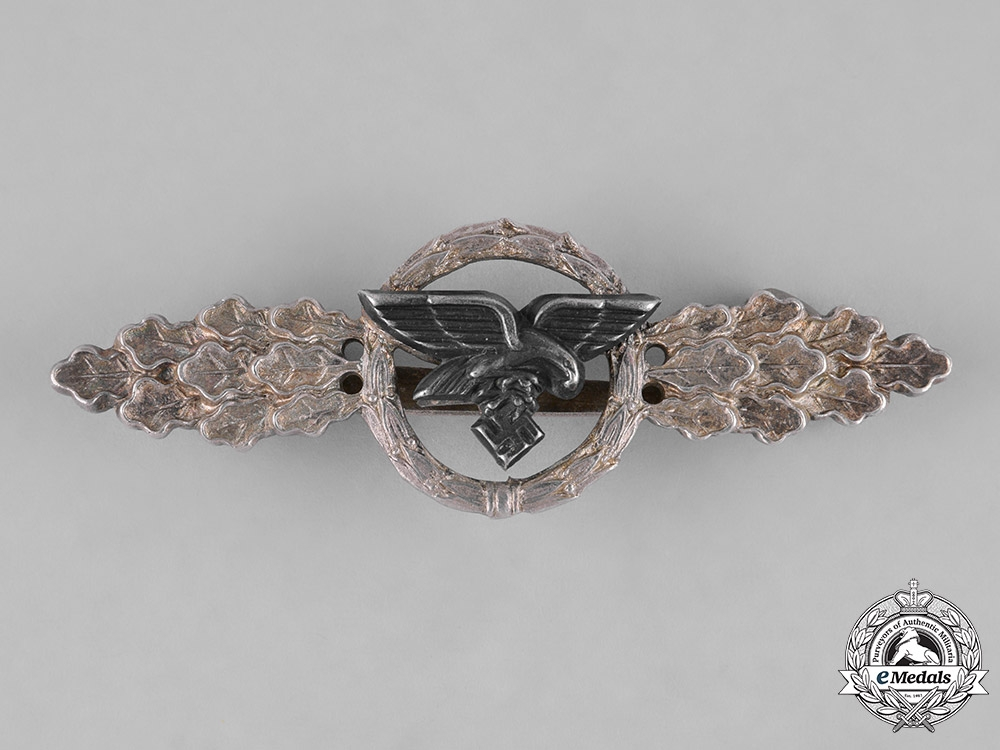 eMedals-Germany, Luftwaffe. A Transport and Glider Clasp, Silver Grade