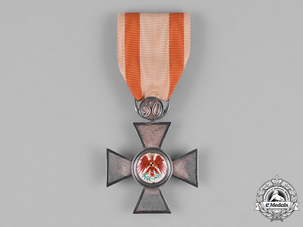 eMedals-Prussia, State. An Order of the Red Eagle, IV Class Cross with 50-Year Anniversary Clasp, by Johann Wagner & Sohn