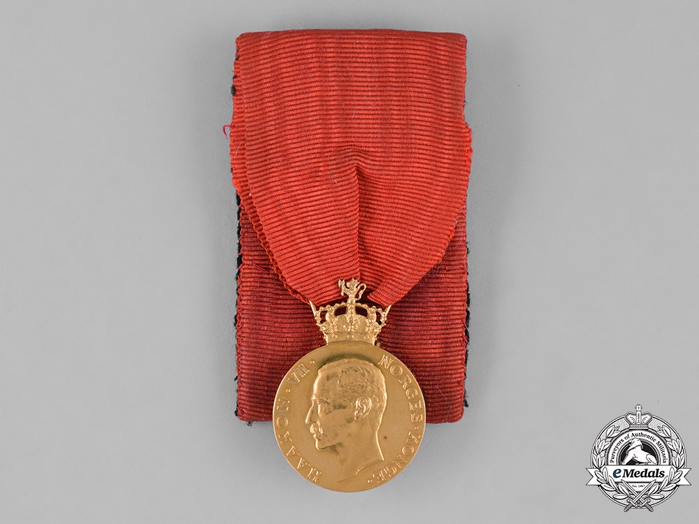 eMedals-Norway, Kingdom. A Royal House of Recompense in Gold, I Class Gold Grade Medal