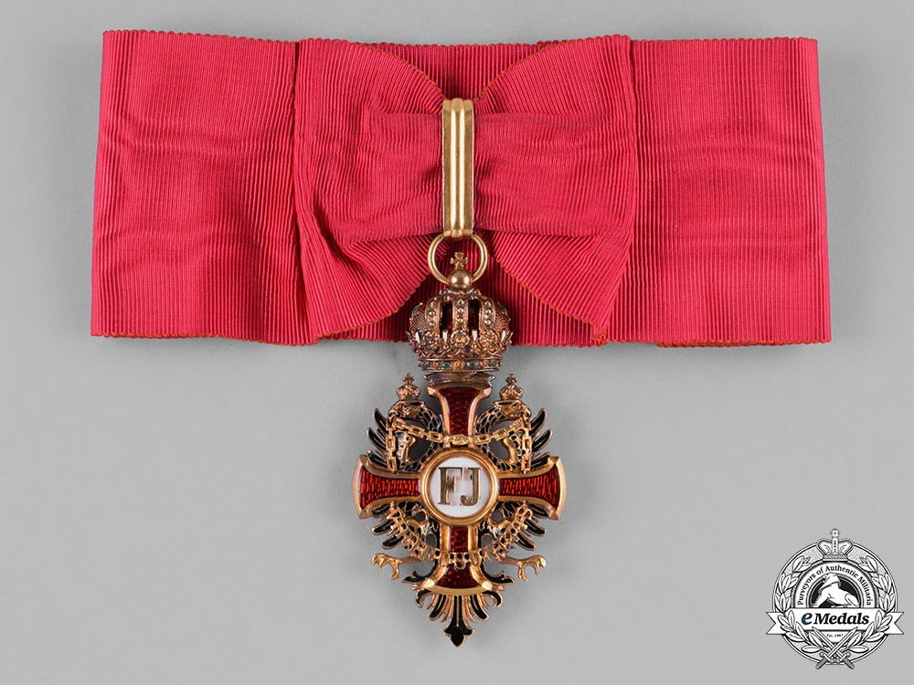 eMedals-Austria, Empire. An Order of Franz Joseph in Gold, Commander Cross, by Vincent Mayer's Söhne, c.1900