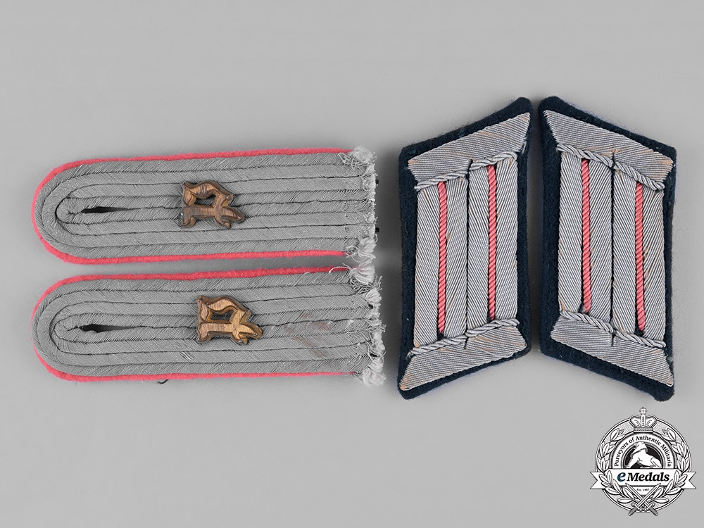eMedals-Germany, Heer. A Set of Heer (Army) Panzer Officer's Rank Insiginia