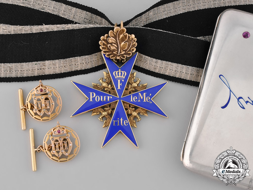 eMedals-Germany, Imperial. The Pour-le-Mérite with Oak Leaves, to Hugo Gottlieb von Kathen, Commander of the 74th Infantry