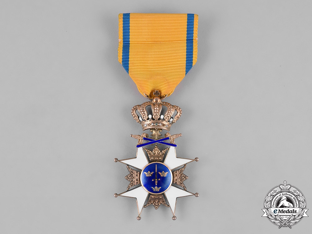eMedals-Sweden, Kingdom. An Order of the Sword, I Class Knight, c.1945