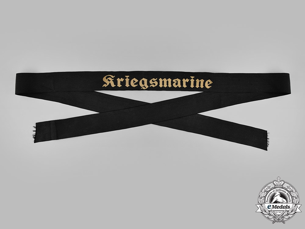 eMedals-Germany, Kriegsmarine. A Kriegsmarine Cap Ribbon